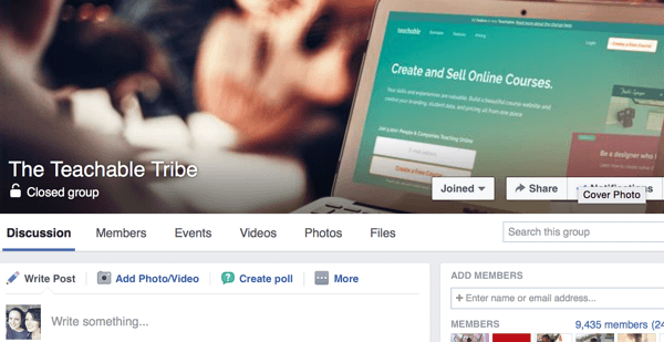 For a Facebook group, choose a name and cover photo that reflect the community you want to build.