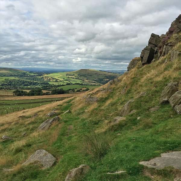 The beautiful countryside of the Peak District