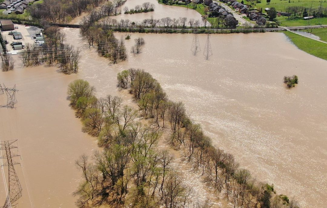 Bridge flooding in Franklin, Tennessee, March 2021