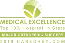 Major Orthopedic Surgery Excellence Award Carechex logo