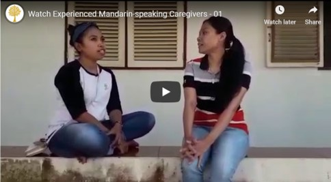 Anglo Caregivers-Watch videos of our caregivers conversing in Mandarin