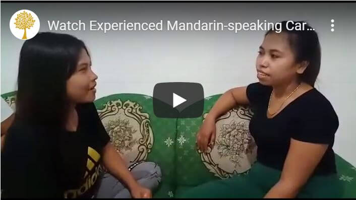Anglo Caregivers-Watch videos of our caregivers conversing in Mandarin!