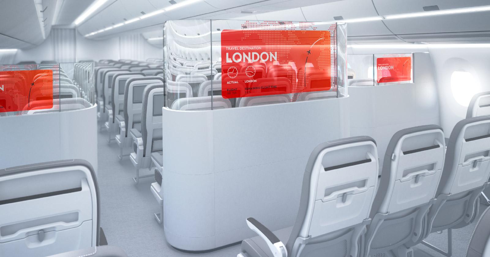 Transparent Cabin Divider featured on apex.aero