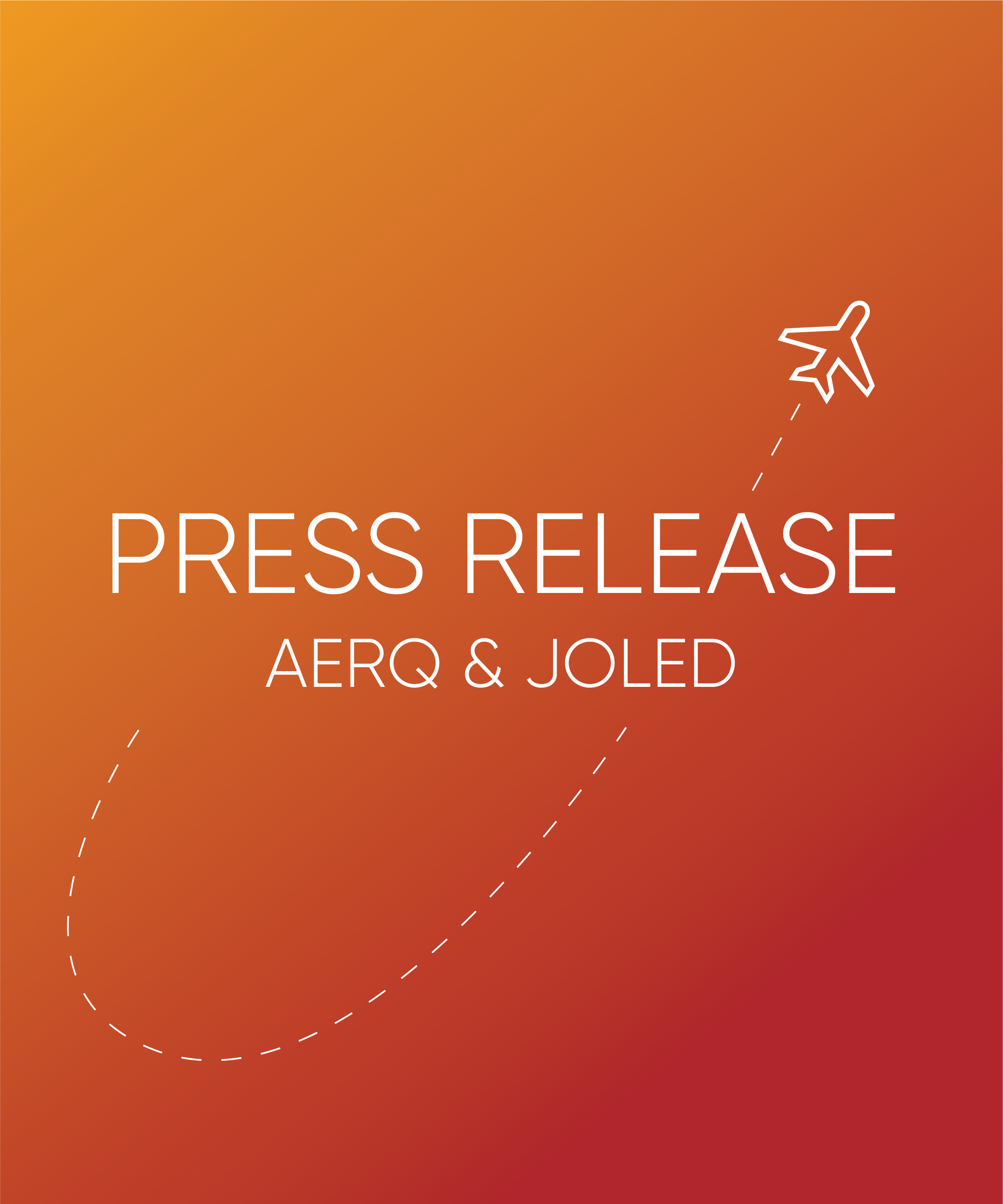 AERQ and JOLED collaborate on integrating medium-sized OLED Displays in Aircraft Cabins