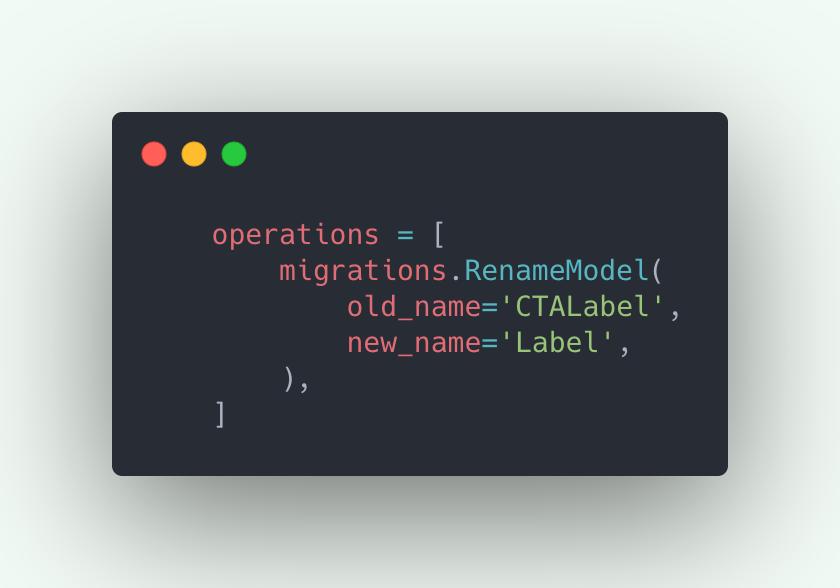 Rename model migrations file