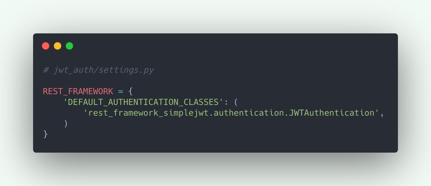 Register Simple JWT in Django REST Framework setting