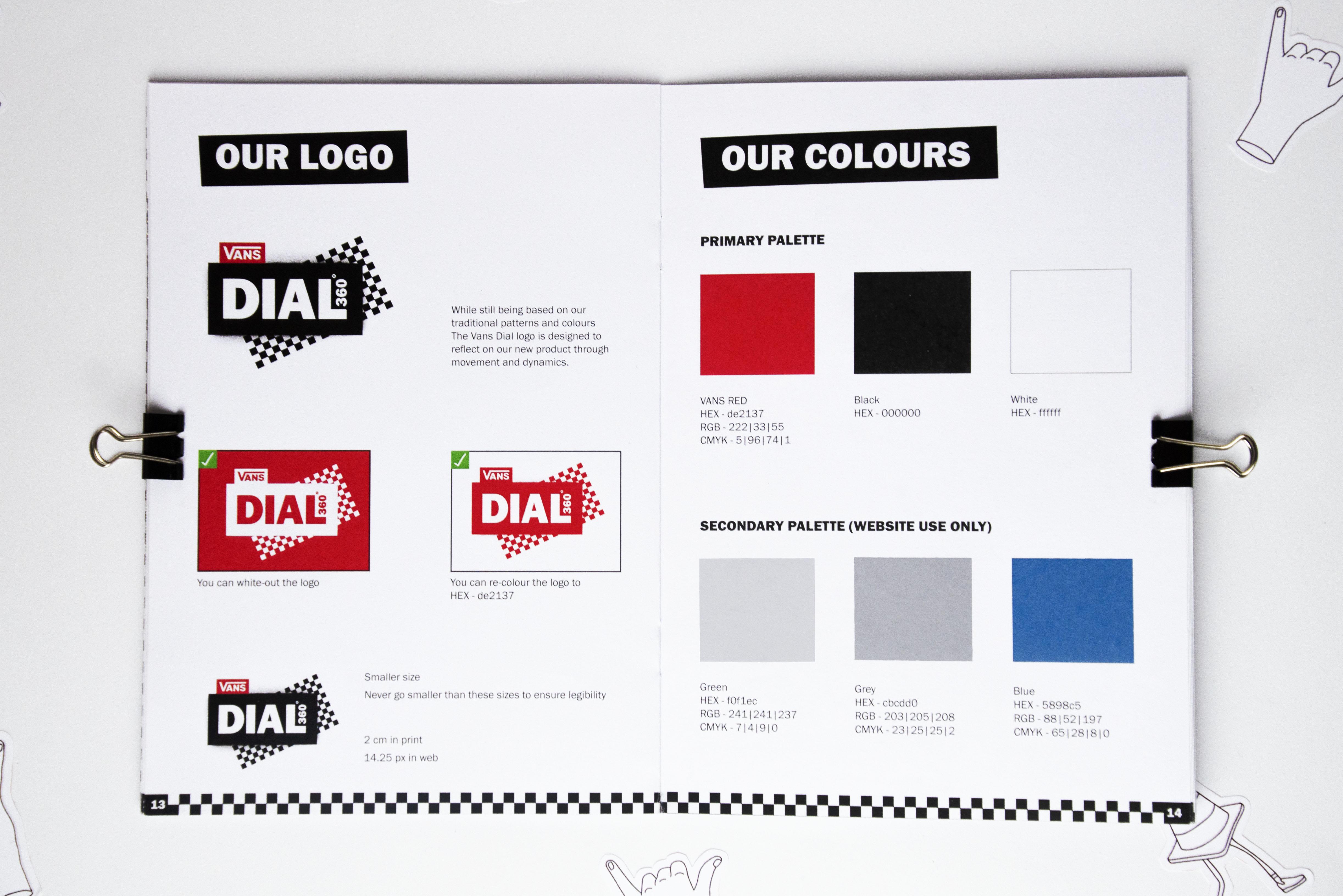 Photograph of VANS DIAL 360° brand book