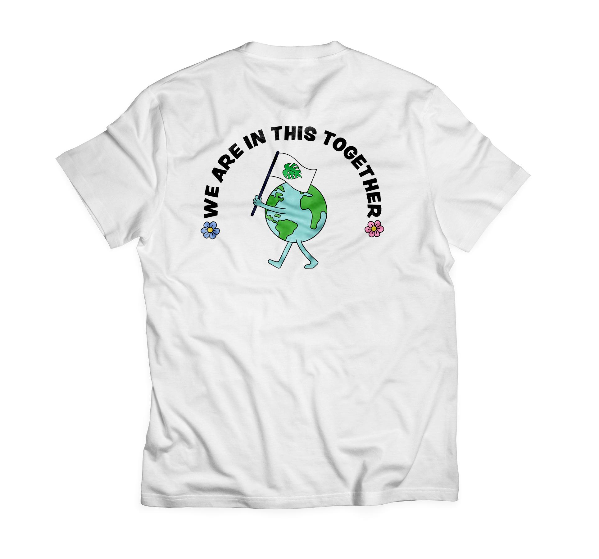 Back design of T-shirt