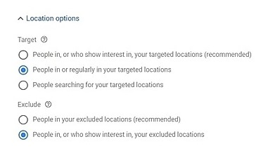 You want to make sure only people in your targeted market see your ads