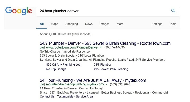 improve CTR in Google Ads in 2020 through keyword phrases in ads
