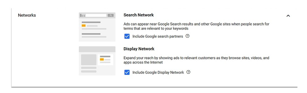 Google Ads search campaigns take a different approach then display campaigns