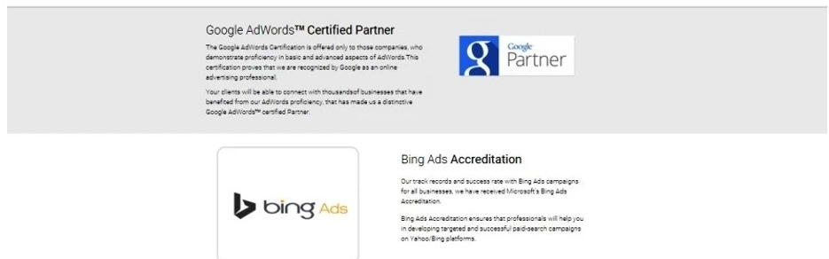 A fake certification is often used to make an agency look legitimate