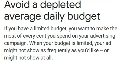 With a limited budget Google will show your ads sporadically throughout your day.