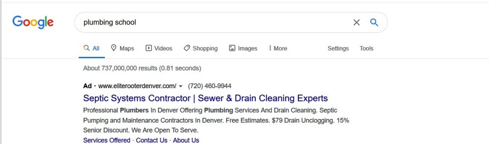The keywords your targeting could be different from the search terms you show for