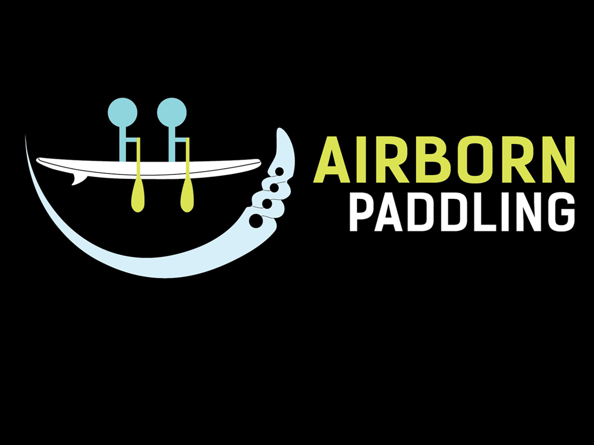 logo design for airborn paddling sup