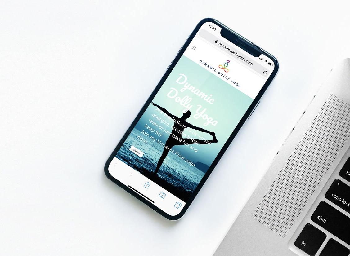 Dynamic Dolly Yoga mobile website design