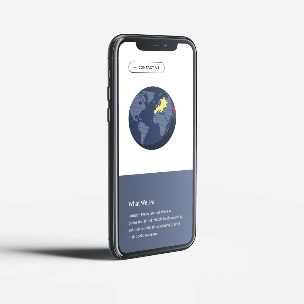 Latitude publishing mobile website design