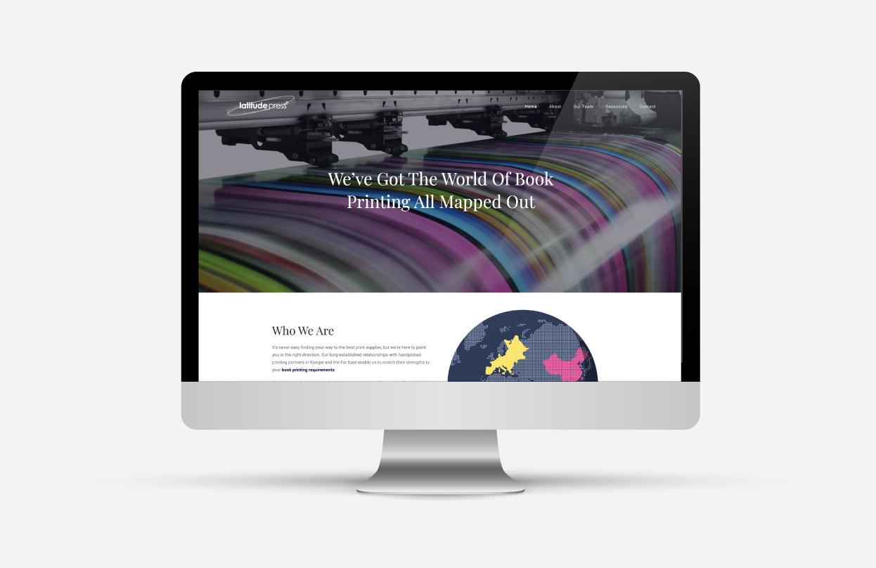 Latitude publishing website homepage design
