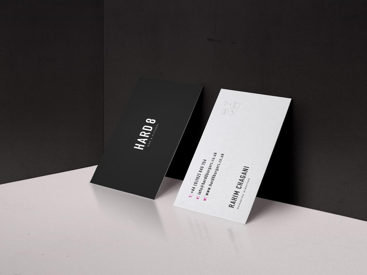 Hard 8 business cards branding design