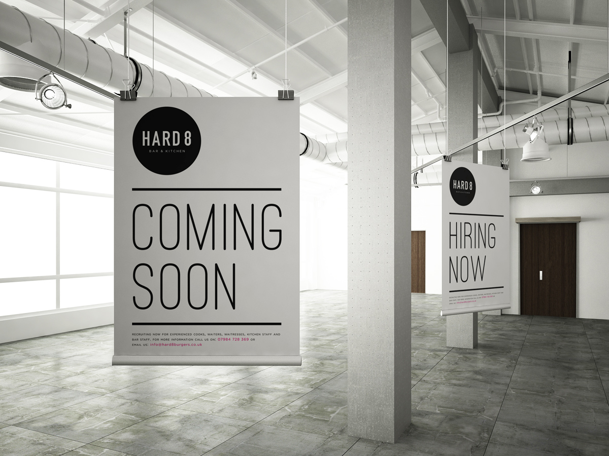 Bar restaurant marketing poster design