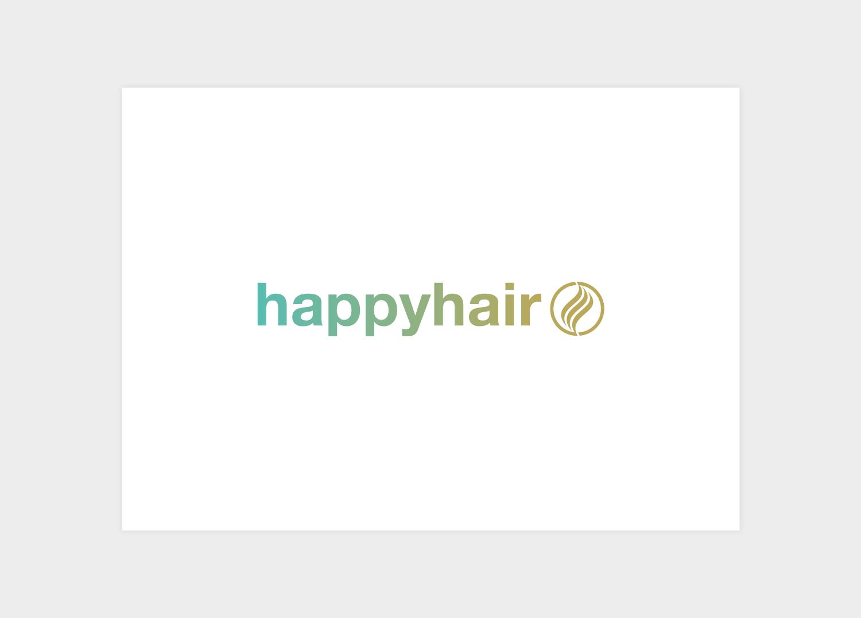 Happy Hair branding logo design concept