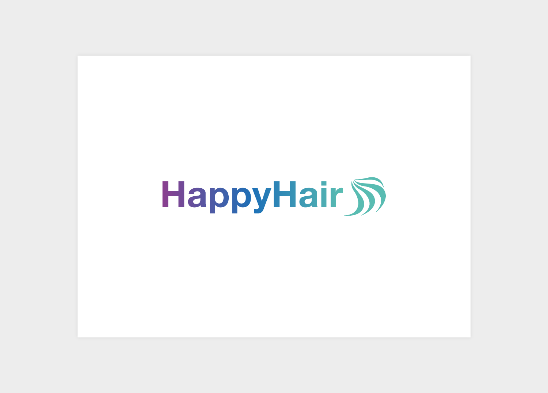 Happy Hair branding logo design