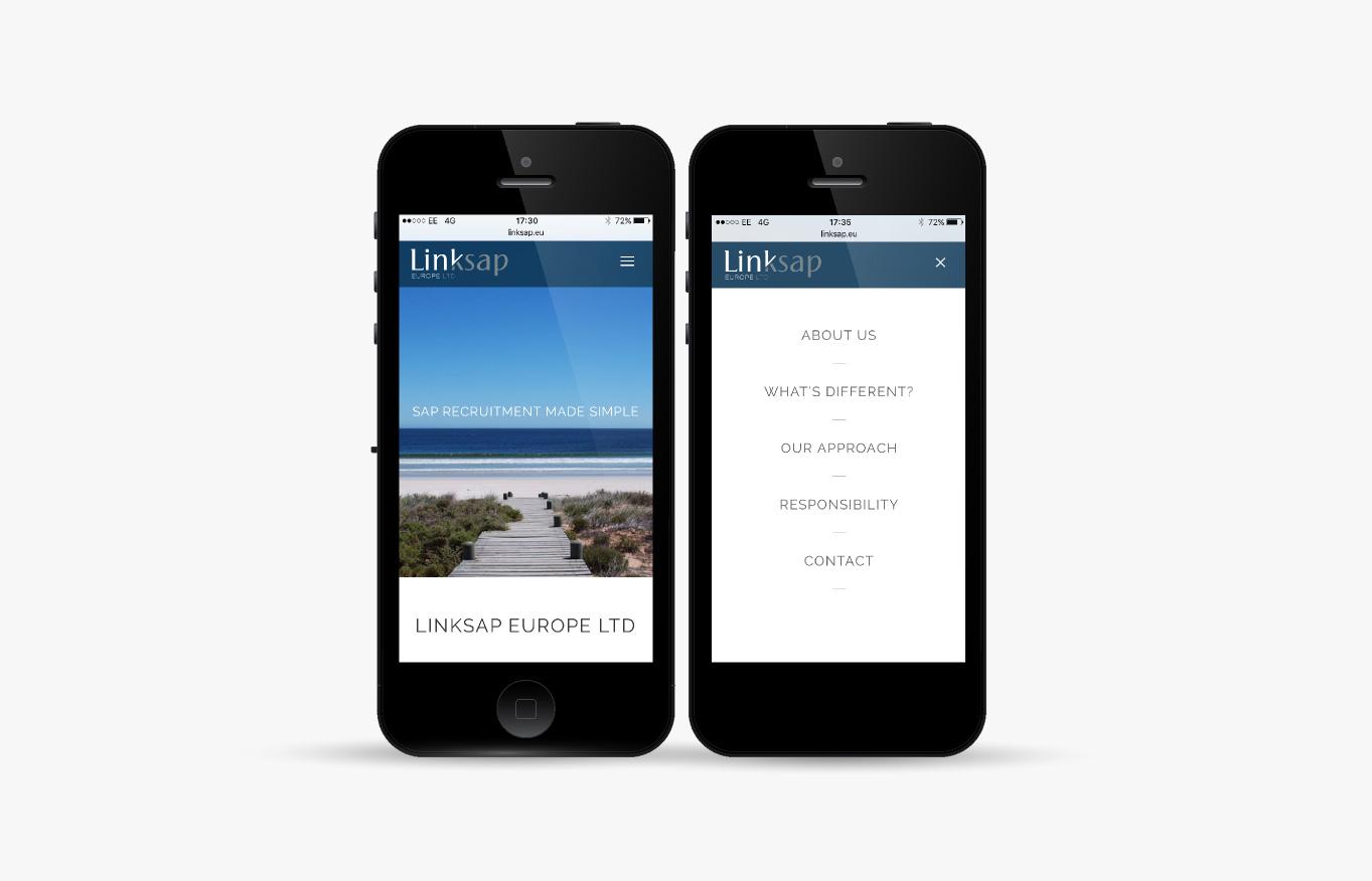 Linksap mobile web design