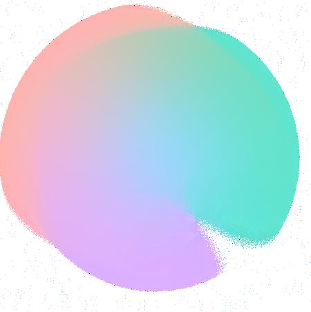 Multi-coloured circle