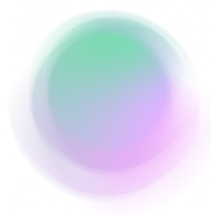 Green and purple circle
