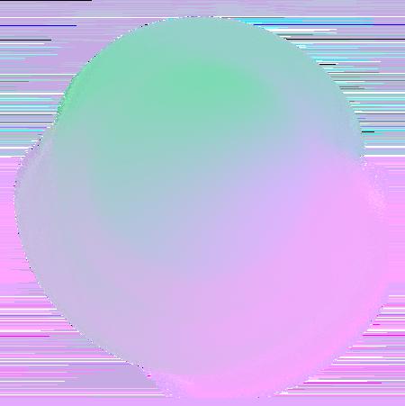 Green and purple circle