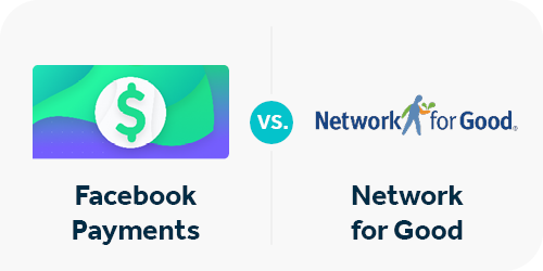 There are two payout methods with Facebook fundraisers-- Facebook Payments and Network for Good.