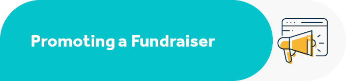 How do you promote a Facebook fundraiser?