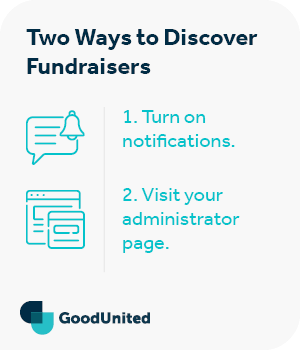 There are two ways to discover when someone starts a Facebook fundraiser.