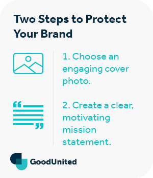 There are two steps to protect your brand with Facebook fundraisers.