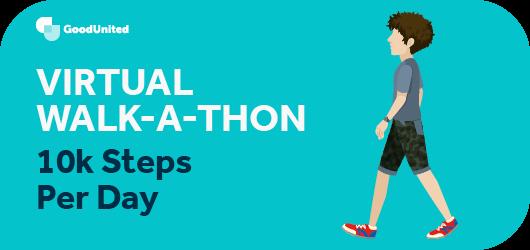 A virtual walk-a-thon is an effective virtual fundraiser.