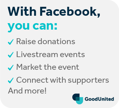 Facebook fundraising enhances your virtual fundraising events with these points.