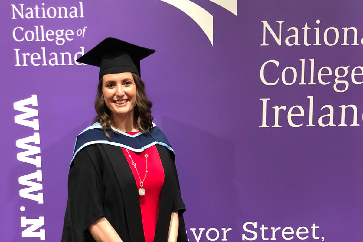 Emma Beamish graduation from the National College of Ireland