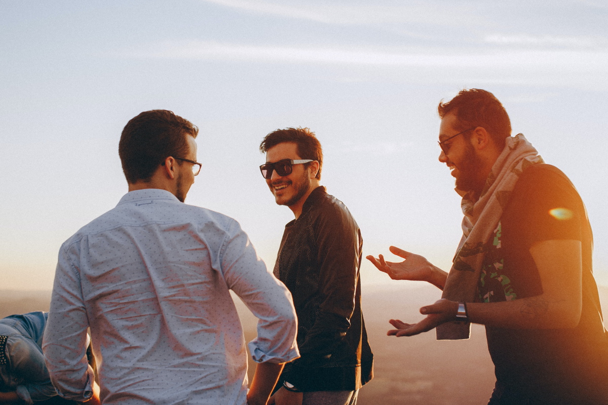 A group of males talking about seizures in men