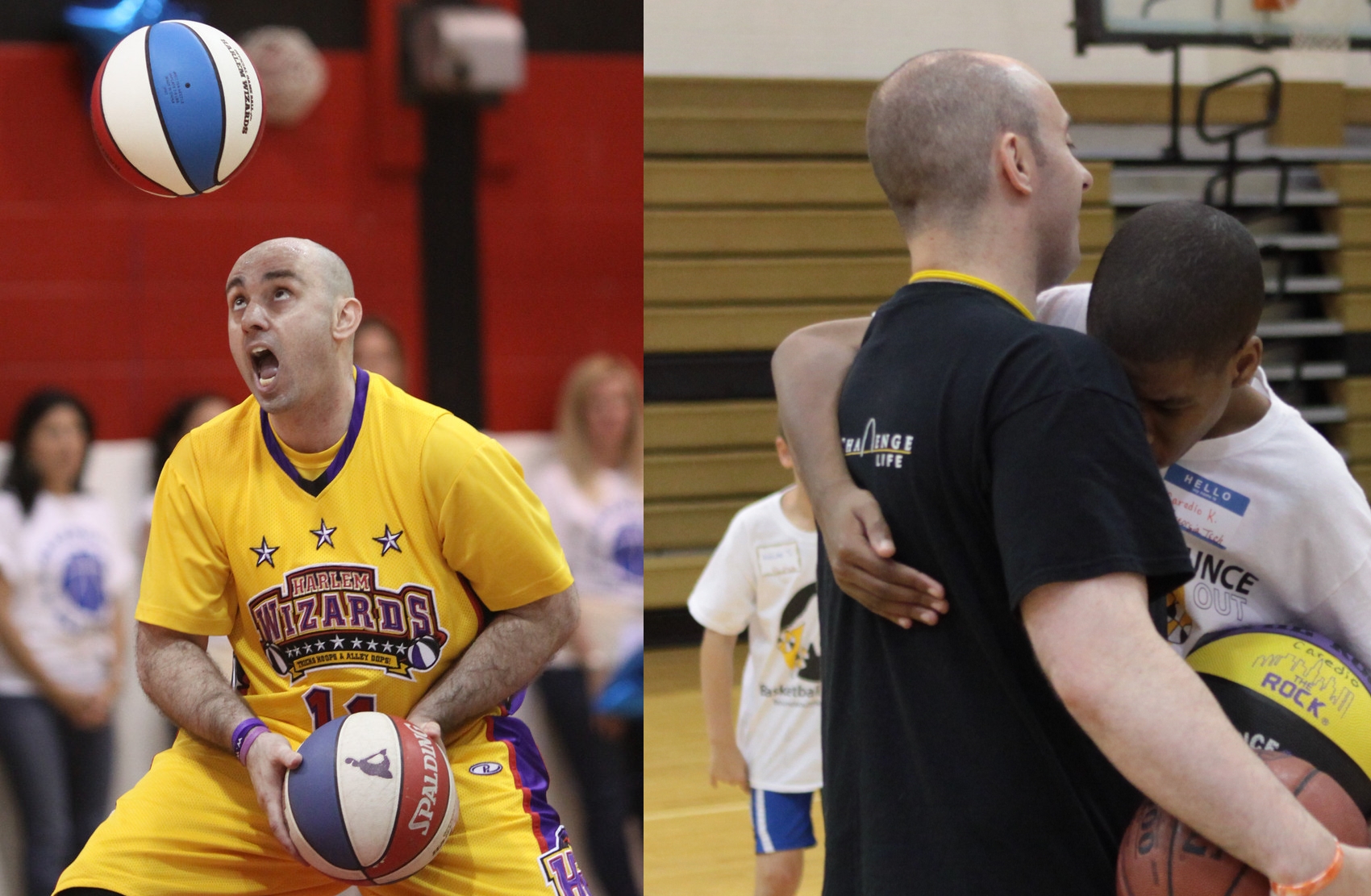 Mighty Mike Simmel plays basketball with epilepsy