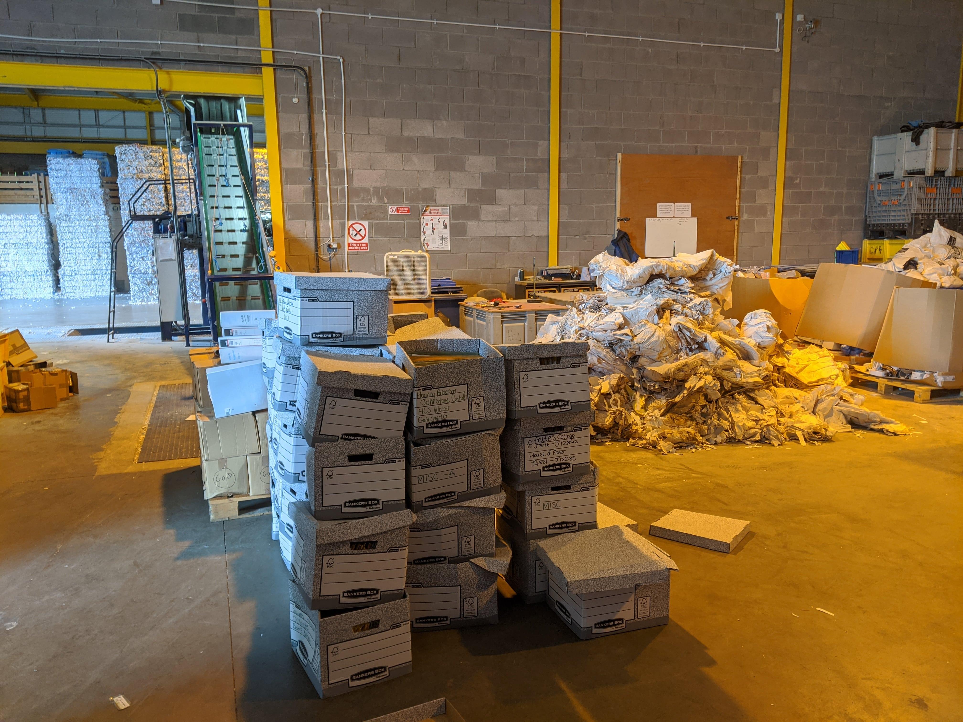 Paper shredding services in Glasgow and Edinburgh.