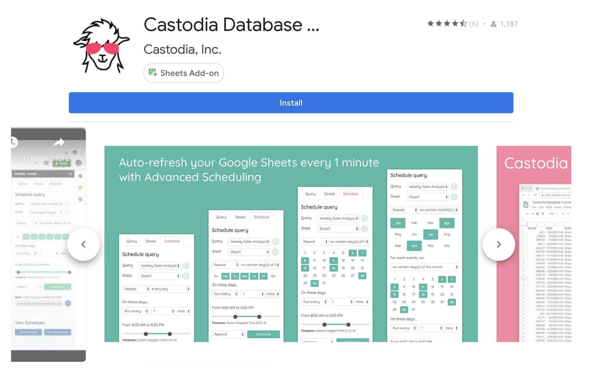 Castodia G Suite Marketplace Download