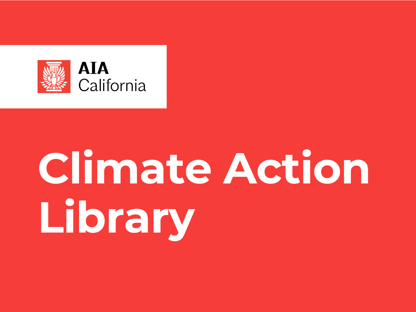 Banner of AIA California Climate Action Library