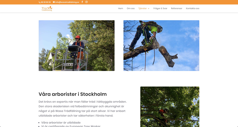 Wasa Trädfällning Stockholm