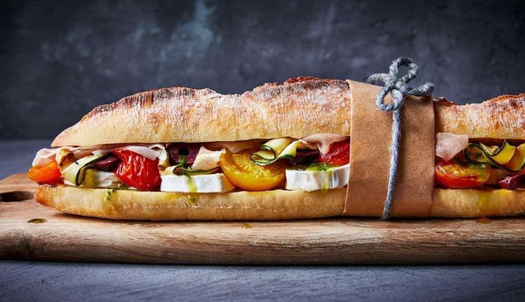 Sandwich de Verduras y Queso de Cabra