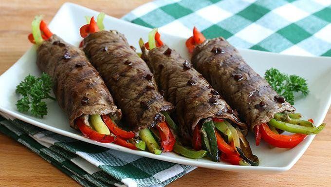 Rollos de Filete con Verduras