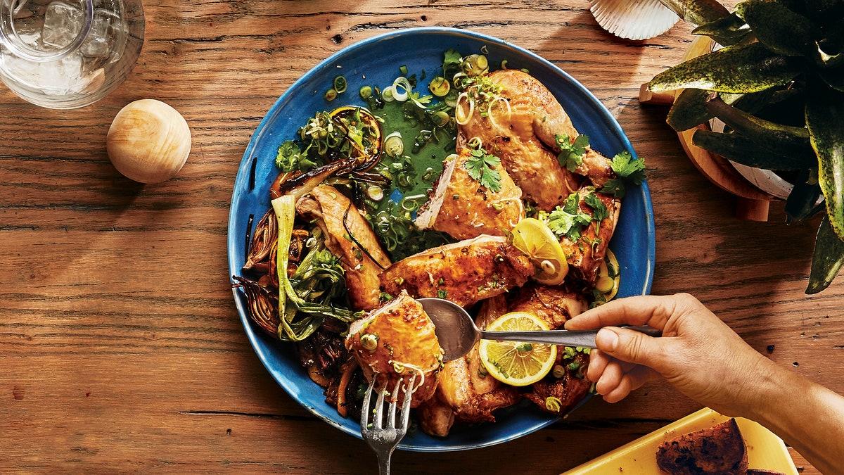 Pollo Empapelado al Limón