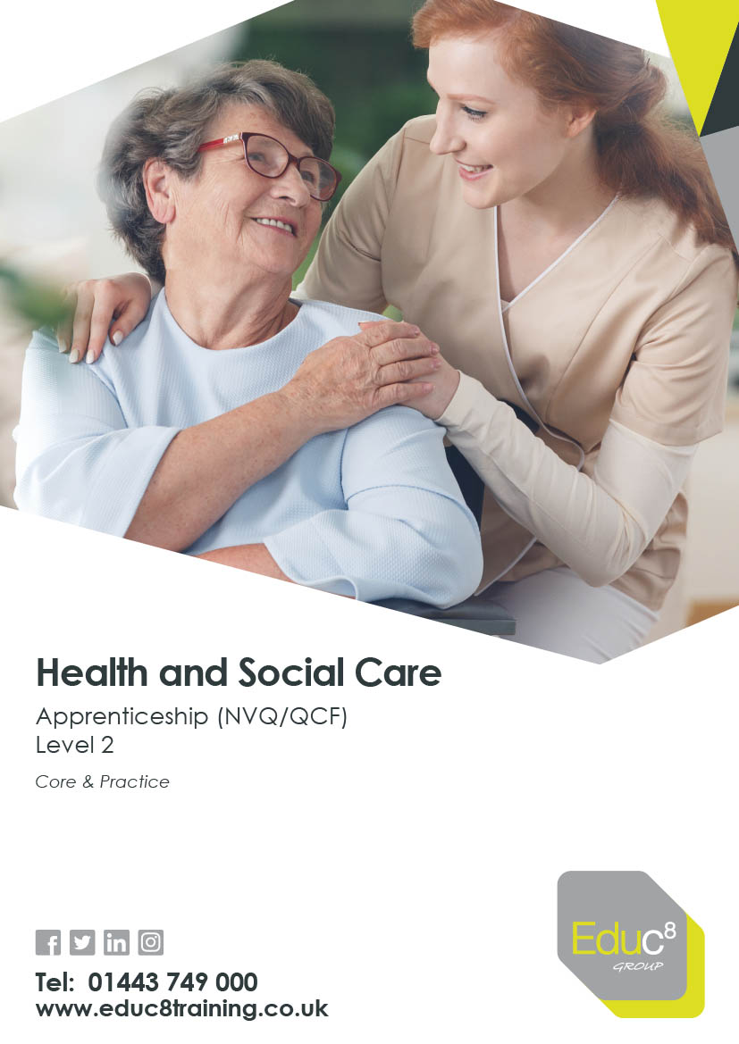 Health and Social Care Level 2 brochure cover for download