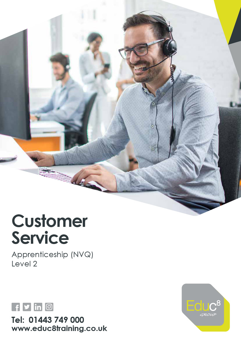 Customer Service Level 2 brochure cover image for download