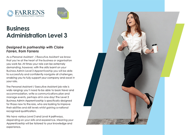Business Administration Level 3 brochure download image