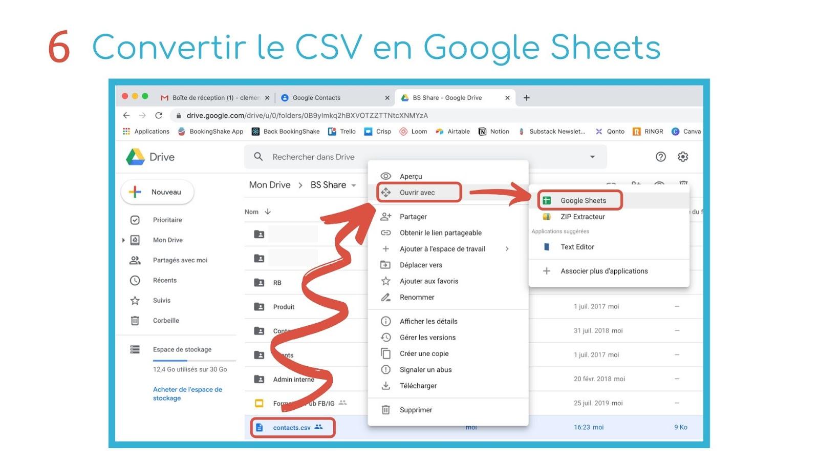 convertir csv google sheets